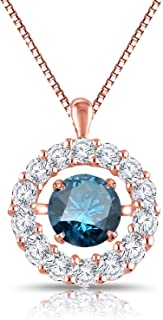Best rose gold dancing diamond necklace Reviews