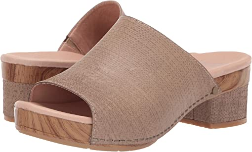 Taupe Textured Leather
