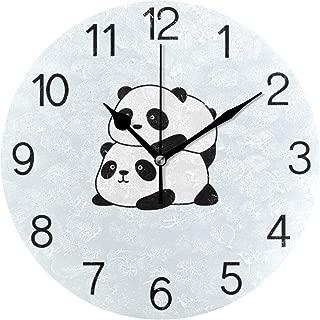 Chovy 掛け時計 置き時計 北欧 おしゃれ かわいい サイレント 連続秒針 壁掛け時計 インテリア パンダ かわいい ブルー 可愛い おもしろ 部屋装飾 子供部屋 プレゼント