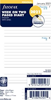 Filofax Week On Two Pages Lined Diary Personal 2021