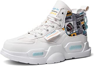 SANNAX Zapatillas de Deporte de Moda para Hombre Zapatillas Altas Zapatillas de Correr Casuales Zapatos Ligeros y Transpir...