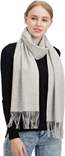 Pashmina Shawl for Women Natural Solid Wool Great Travel Scarf Blanket Scarf