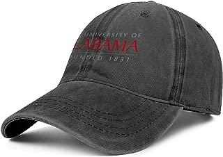 Men Women The-University-of-Alabama- Baseball-Cap Hat - Classic Adjustable Sports Cowboy Hat