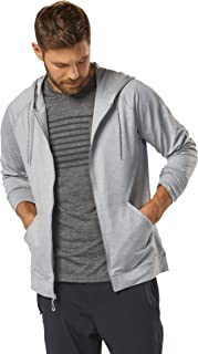 Men's R-Gear Full-Zip Flyweight Hoodie, Heather Chrome, L
