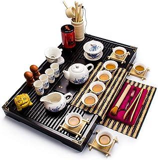 IVEGLA ティーセット 茶具セット 茶器 茶皿 青と白のセラミックティーセット ティーセット 茶具セット 茶器 茶皿 青と白のセラミックティーセット