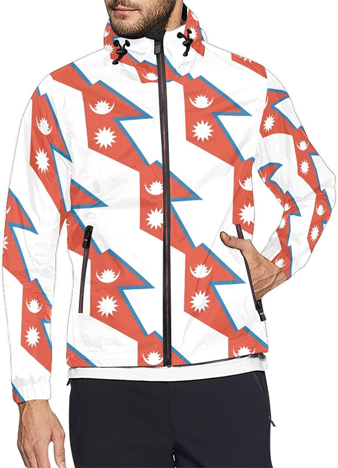 Nepal Flag Mens and Windbreaker Windproof Jacket Womens Max 52% OFF online shopping