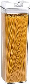 Jonelle's pasta container, pasta containers airtight, pasta storage containers airtight, plastic pasta containers, storage containers for pasta, tall pasta containers, clear pasta containers