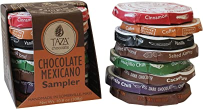 Taza Chocolate | Mexicano Disc | Variety Pack| Stone Ground | Certified Organic | Non-GMO | 1.35 Ounce (8 Count)