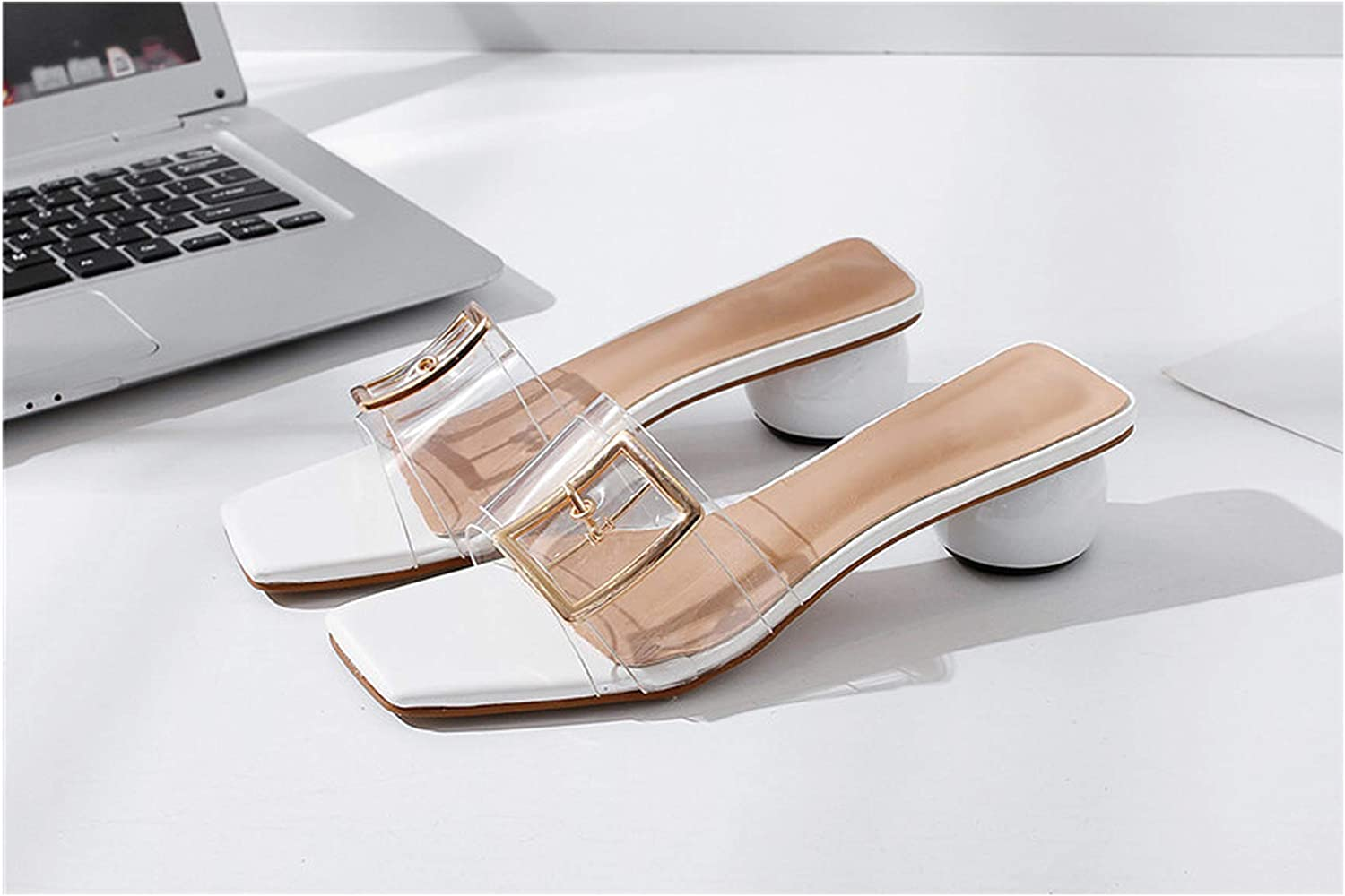 I Need-You New Women Sandals Block Heel Summer shoes Ladies High Heeled shoes Woman Buckle Female Footwear Slippers Sandals