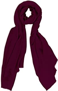 Made in Kashmir: Autumn Winter 2018-19 Collection of Cashmere Feel Wool Silk Blend Scarf Unisex Pashmina Men's Women's Shawl