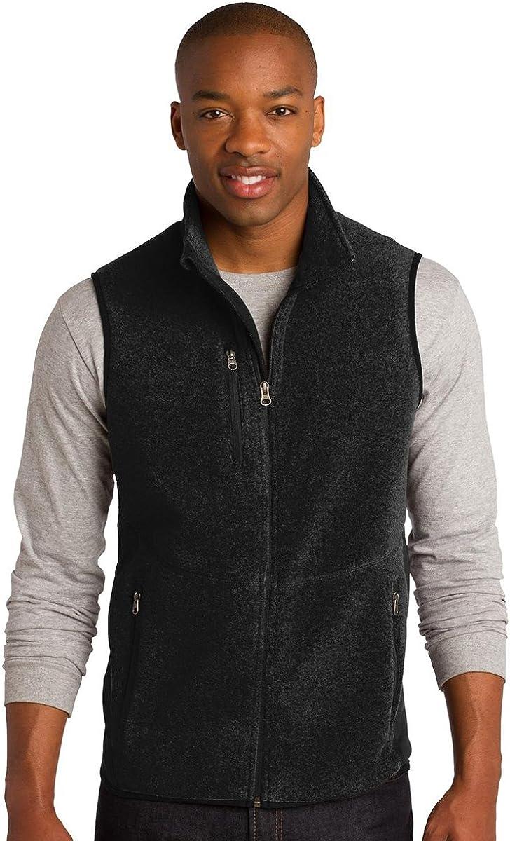 Port Authority Men's Polyester Pro Fleece Full-Zip Vest, 2XL, Black