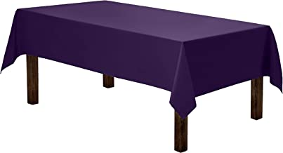 Gee Di Moda Rectangle Tablecloth - 60 x 84 Inch - Purple Rectangular Table Cloth for 5 Foot Table in Washable Polyester - Great for Buffet Table, Parties, Holiday Dinner, Wedding & More