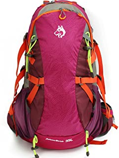Mochila de Senderismo Mochila de alpinismo Hombros multifuncionales Equipo de alta capacidad para acampar Viajar caminando Deporte de ocio Neutral Hombres y mujeres adecuados para uso en exteriores Ma