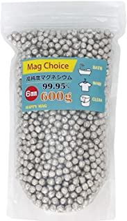 [Amazon限定ブランド] 6mm マグネシウム 粒 【大容量600g】 ペレット 高純度 99.95% 洗濯 部屋干し 除菌 臭い 消臭 水素水 水素浴 風呂 掃除 Mag Choice