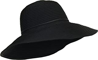 Packable Ribbon Crusher Sun Hat, 4 in. Shapeable Brim, SPF UPF 50 UV Protection