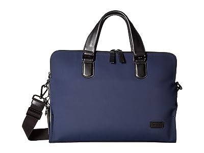 Tumi Harrison Nylon Seneca Slim Brief (Navy) Briefcase Bags