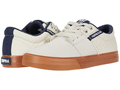 Supra Stacks Vulc II (Bone/Navy/Gum) Men