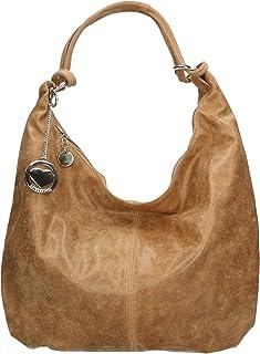 Chicca Borse Bag Borsa a Spalla in Pelle Made in Italy 45x35x4 cm