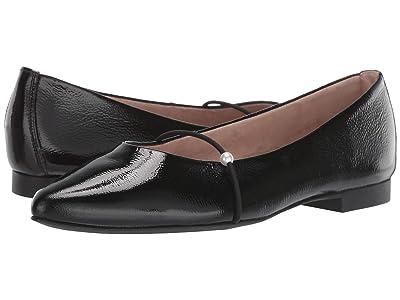 Paul Green TJ Flat (Black Crinkled Patent) Women