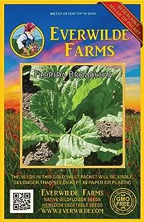 Everwilde Farms - 2000 Florida Broadleaf Mustard Seeds - Gold Vault Jumbo Seed Packet