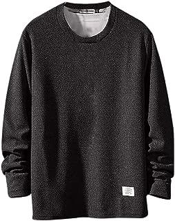 FAPIZI Men's Long Sleeve T-Shirt Classic Sport Clothes Loose Outdoor Running Pullover Sweatshirt Tops Tee Outwear