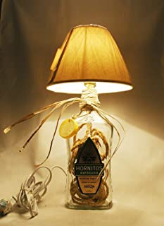 Repurposed 1.7L Bottle, Hornitos Reposado Tequila Table Lamp, Large.