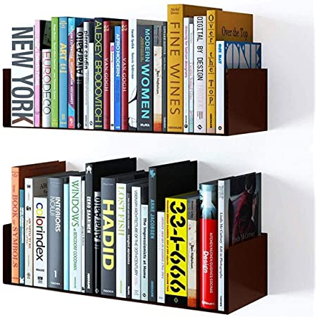 Dime Store Engineered Wood Bookcase ,Glossy Finish ,Set Of 2,Brown