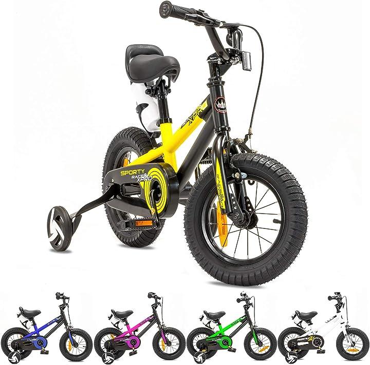 Bicicletta a rotelle  per bambine e bambini, a partire dai 3 anni, da 12 / 16 pollici nb parts B0823VXF74