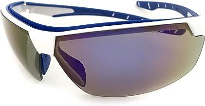 Óculos SOL Proteção ESPORTIVO STEELFLEX NEON AZUL ESPELHADO Esportivo AIRSOFT Teste Balístico Paintball Resistente A Impac...