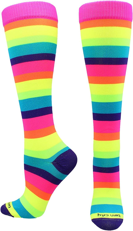 TCK Sports Krazisox Rainbow Stripes Over the Calf Socks