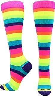 Sports Krazisox Rainbow Stripes Over the Calf Socks