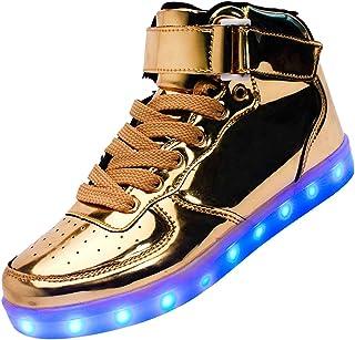wealsex Unisex Adulto Uomo Donna Scarpe LED Luminosi Sneakers con Le Luci Accendono Scarpe Sportive