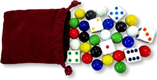 AmishToyBox.com Game Bag of 24 Glass Marbles (9/16
