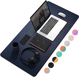 YSAGi Multifunctional Office Desk Pad, Ultra Thin Waterproof PU Leather Mouse Pad, Dual..