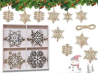 handgemachte Holz Anh/änger Weihnachtsdeko Dekoh/änger Weihnachten Christbaumschmuck aus Holz Reh Geschenkh/änger Weihnachtsbaumschmuck Mitbringsel Tannenbaumschmuck Weihnachtsbaum Deko