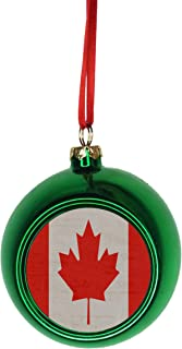Rosie Parker Inc. Flag Canada Bauble Christmas Ornaments Green Bauble Tree Decoration Ball