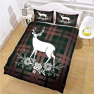 3D-tryckt påslakanset hemtextil sängkläder Luba * Easy Care Soft Cosy King (220 x 240 cm), 3 delat set 1 st påslakan + 2 s...
