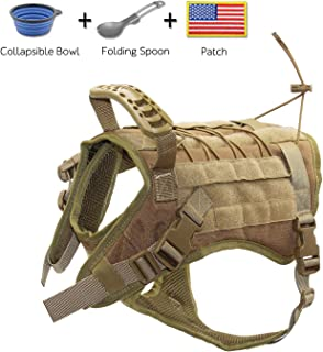 EJG Tactical Dog Harness Vest, with Velcro Area, No Pulling Design, Comfy Mesh Padding, Service Dog, Military Training, Hunting, for Medium & Large Dogs