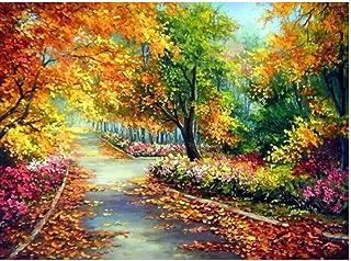 Autumn Tree 5D Diy Diamond Painting Full Drill Landscape Cross Stitch Kits For Adults Rhinestone Embroidery Mosaic Art,50X...