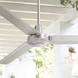 industrial 56 in indoor brushed nickel ceiling fan