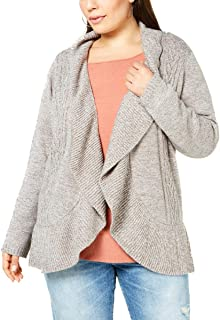 Womens Cocoon Open Front Cardigan Sweater