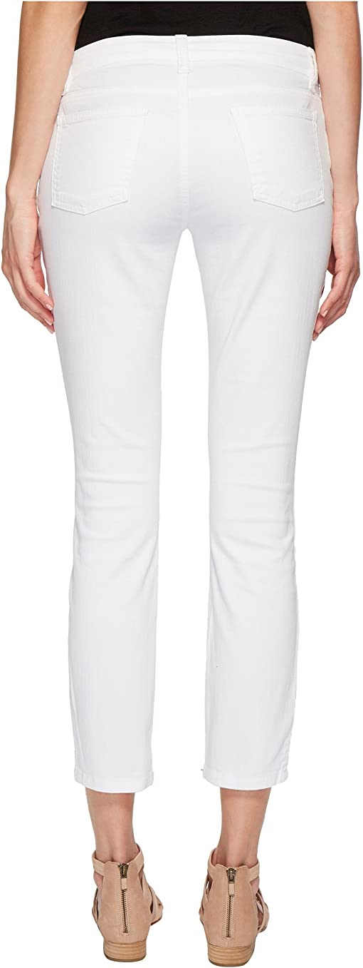 White Garment-Dyed Organic Cotton Stretch Denim