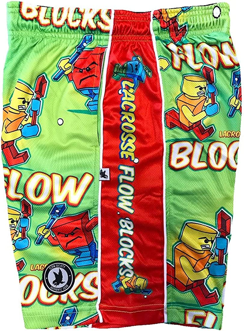 Flow Society Flow Blocks Boys Athletic Shorts Green