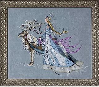 Snow Queen Linen Kit Beaded Counted Cross Stitch by Nora Corbett Mirabilia Designs MD143 (Bundle: Chart, Fabric, Beads, Braid, Silk Floss)