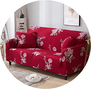 Stretch Sofa Cover All-Inclusive Elastic Seat Couch Cover for Living Room Furniture Slipcovers,Color 18,1-Seat 90-140Cm