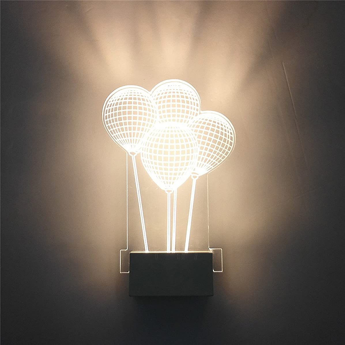 GR 8W Modern Led Wall Lamps Balloon Light Creative Bedroom Bedside Lamp Acrylic Bathroom Living Room Indoor Wall Lighting (1PC) (Color : Warm White)
