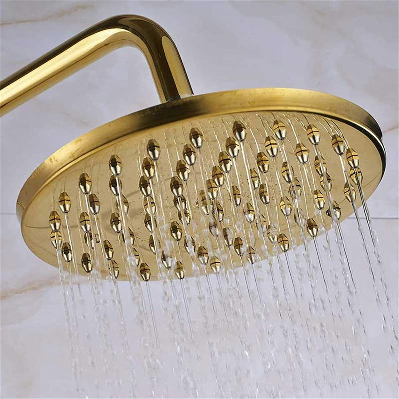 Antique Brass Shower Head Brass Rainfall Shower Faucet Head 8  Shower Replace Head golden Shower Head A