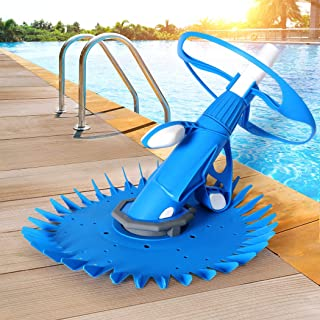 Swimming Pool Cleaner Automatic Floor Climb Wall Vacuum Hose 10M Suction Blue