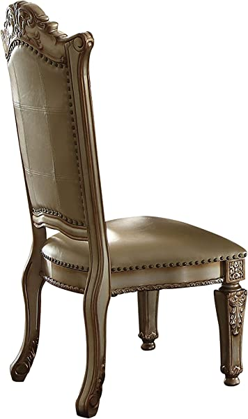 ACME Vendome Gold Patina Side Chair Set Of 2