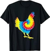 Tie Dye Chicken Rainbow Print Hen Fowl Hippie Peace Gift T-Shirt